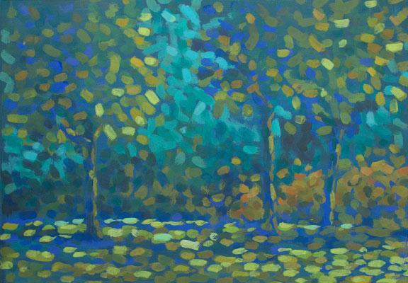 Waldansicht nach Skizze / Maße ca. 37 x 27 cm